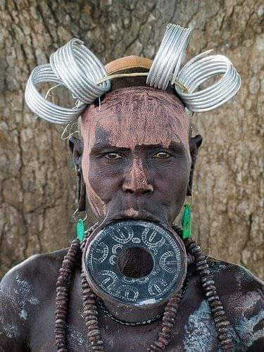 Lip plate, and a head gear